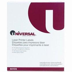 Universal UNV80109 - Laser Printer Permanent Labels
