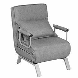 Giantex Convertible Sofa Bed Folding Arm Chair Sleeper 5 ...