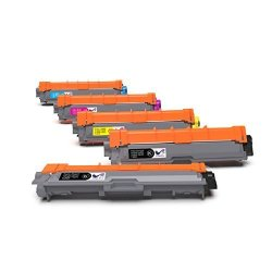 ONLYU 5 Pack For Brother TN221 TN225 High Yield Toner