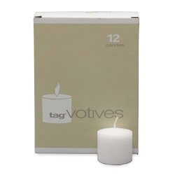 Tag PLV414 Basic Votive Candle White Set Of 12