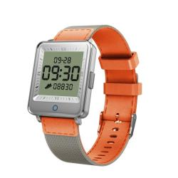 V16 1.2 Inch Ips Dual Screen Smartwatch IP67 Waterproof Nylon Watchband Support Call Reminder heart Rate Monitoring blood Pressure Monitoring sleep Monitoring blood Oxygen Monitoring Orange