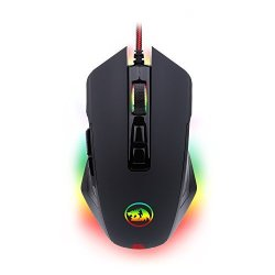 Redragon Gaming Mouse Rgb LED Backlit Wired Mmo PC Gaming Mouse M715-RGB Dagger By Ergonomic High-precision Programmable Gaming