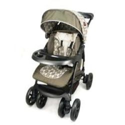 Chelino Coyote 3 Position Travel System With Car Seat - Circles Brown