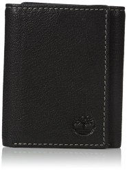 Timberland Men's Genuine Leather Rfid Blocking Trifold Security Wallet Black One Size