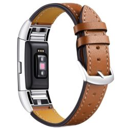 Killerdeals Leather Strap For Fitbit Charge 2 - Brown