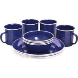OZtrail Enamel 12 Piece Dinner Set