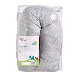 LITTLE ONE - Preggy Pillow Grey Dots