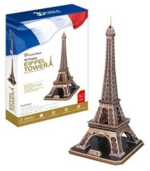 Cubic Fun 3d Puzzle - Eiffel Tower 3d Puzzle 82 Pieces