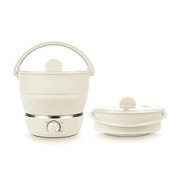 Drizzle Foldable Electric Hot Pot Cooker Dual VOLTAGE100V-240V MINI Kettle Food Grade Silicone Cookerware Boiling Water Steamer Portable Travel