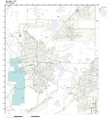 Zip Code Wall Map Of Boulder Co Zip Code Map Laminated