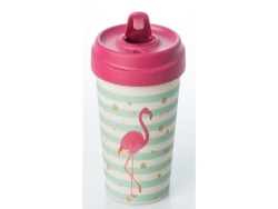 ChicMic Bamboo Travel Mug 400ML Flamingo
