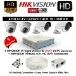 9e3435c550c Hikvision 4 Channel Turbo HD 720P Complete CCTV Kit