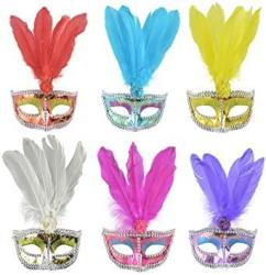 USA Halloween Phoenix Feather Mask Holiday Party Masquerade PROPS.2 Pieces.