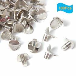 100 Yalansmaip Packs 5MM Shelf Support Pegs Shelf Pins Shelf Bracket Pegs For Cabinet Closet Furniture Bracket Style