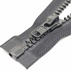 "YaHoGa 2PCS 10 24 Inch Separating Jacket Zippers For Sewing Coat Jacket Winter Coat Black Heavy Duty Zippers Large Molded Plastic Zippers Bulk 24"" 2PCS"