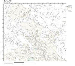 Working Maps Zip Code Wall Map Of Balfour Nc Zip Code Map Laminated
