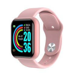 D20 1.3INCH Ips Color Screen Smart Watch IP67 Waterproof Support Call Reminder heart Rate Monitoring blood Pressure Monitoring sedentary Reminder Pink