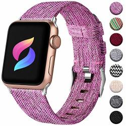Haveda Fabric Compatible For Apple Watch Band 40MM Series 4 Series 5 Stylish Woven Iwatch Bands 38MM Womens Sport Cloth Dressy For Apple Watch