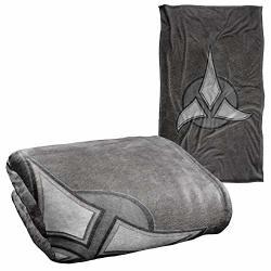 "Star Trek Klingon Empire Silky Touch Super Soft Throw Blanket 36"" X 58"