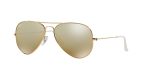 Ray-Ban Aviator Large Metal RB3025 Sunglasses - Gold With Brown & Silver Lens