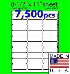 Jenco-label L330R 7 500 Address Labels Laser Inkjet Labels 2-5 8X1