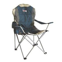 AfriTrail Roan Padded 130KG Back Chair - Slate Blue