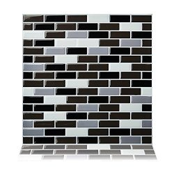 Yipscazo Peel and Stick Backsplash Tile for Kitchen Anti-Mold Wall Tile in Olivy Moroccan Design 1 Sheet 10x10