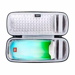 JBL Pulse 4 IPX7 Waterproof Portable Bluetooth Speaker With 360 Color LED And Gsport Deluxe Travel Case White