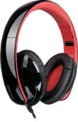 Microlab K360 Foldable Lightweight Headphones Black & Red