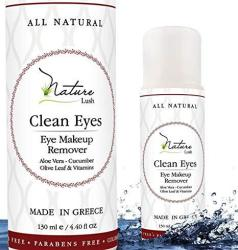 The Best Natural Eye & Face Makeup Remover - Oil Free - Rich Vitamins - Non Irritating No Hazardous Chemicals - Clean Eyes By