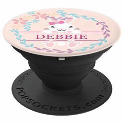 Debbie - Name Monogram - Cute Bunny Personalized