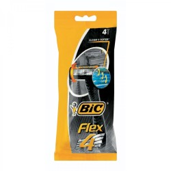 BIC Flex4 Mens Disposable Razors Pack 4s