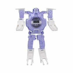 Flykits Transforming 2 In 1 Robot Watch Digital Electronic Watch Robot Watch Transform Watch For Kids Suitable For Boys And Girls 3 Years Old And Above Purple