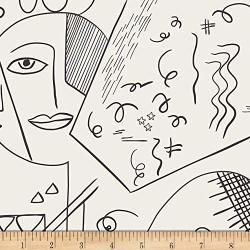 Art Gallery Etno Cubist Perception In Jersey Knit