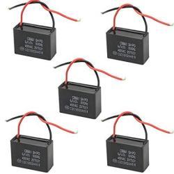 wgcd 5 pcs ceiling fan capacitor 2 wire cbb61 capacitor wall fan motor run  capacitor 6