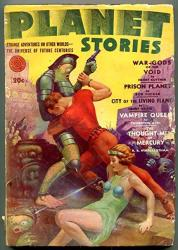 Planet Stories Pulp Fall 1942- Autographed Bob Tucker- Vampire Queen G vg