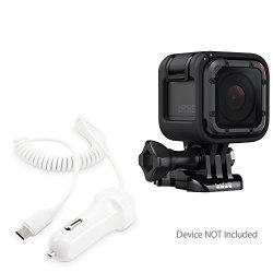 BoxWave Corporation Gopro HERO5 Session Car Charger Boxwave Car Charger Plus Car Charger And Integrated Cable For Gopro HERO5 Se
