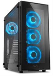 Sharkoon TG5 Window Atx Tower PC Gaming Case Blue With Side Window - USB 3.0 Mounting Possibilities: 1X 3.5 Hard Drive Bays 2X 3