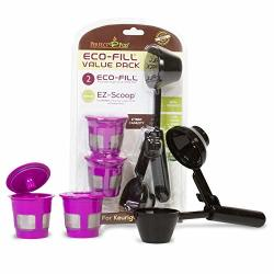 Perfect Pod Eco-fill Reusable K-cup Pod Filters And Coffee Scoop Value Pack Compatible With Keurig K-duo K-mini 1.0 2.0 K-series And Select Single Cup Coffee Makers