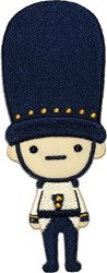 PS Papapatch Cute Army Soldier Doll Cartoon Lovely Kids Children Diy Sew On Iron On Embroidered Applique Patch - Blue Iron-army-doll-blue