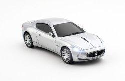 Click Car CCM660097 Maserati Gran Turismo Wireless Optical Mouse Silver