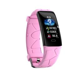 E58 0.96 Inch Ips Color Screen Smartwatch IP67 Waterproof Support Call Reminder heart Rate Monitoring blood Pressure Monitoring sleep Monitoring blood Oxygen Monitoring Pink