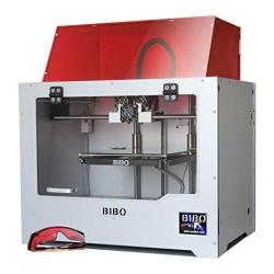 BIBO 3D Printer Metal Frame Dual Extruder Laser Engraving Wifi Touch Screen Cut Printing Time In Half Filament Detect Demountabl