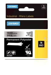 """Dymo Industrial Permanent Labels For Labelwriter And Industrial Rhinopro Label Makers Black On Metallic 3 4"""" 1 Roll 18487"""