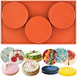 FUNSHOWCASE Large Round Disc Candy Silicone Mold 3-CAVITY