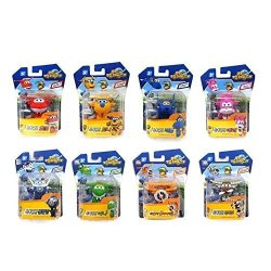 Super Wings MINI Transformer Robot 8 Pieces Toy Set