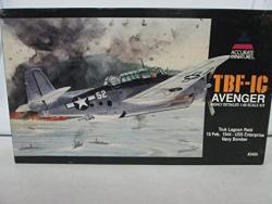 "USA Accurate Miniatures Tbf-ic Avenger Highly Detailed 1:48 Scale Kit ""truk Lagoon Raid 16 Feb. 1944- Uss Enterprise Navy Bomber"" No. 3405"