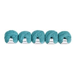 Valley Yarns Valley Superwash 5-PACK Washable Worsted Weight Yarn 100% Extra Fine Merino Wool - 522 Teal