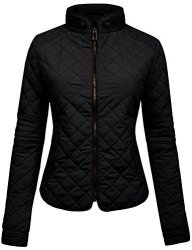 NE People Womens Lightweight Quilted Zip Jacket Large WJ22BLACK