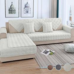 Ostepdecor Couch Cover Sofa Cover Quilted Sectional Couch Covers Velvet Sofa Slipcover For Dogs Cats Pet Love Seat Recliner Leat